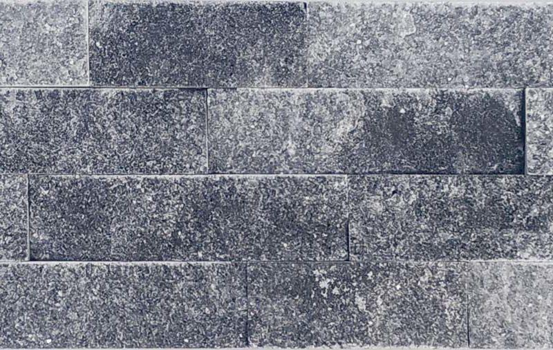 """Serie: Fachaleta Famille: RevÊtement de pierre naturelle et de brique Format: 15 x 55 cm (6""""x22"""" ) Couleur: Noir"""