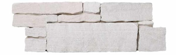"""Serie: Petra Famille: RevÊtement de pierre naturelle et de brique Format: 20 x 55 cm (8""""x22"""" ) Couleur: Blanc"""