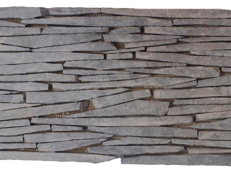 """Serie: Petra Famille: RevÊtement de pierre naturelle et de brique Format: 20 X 40 cm (8""""x16"""" ) Couleur: Gris"""