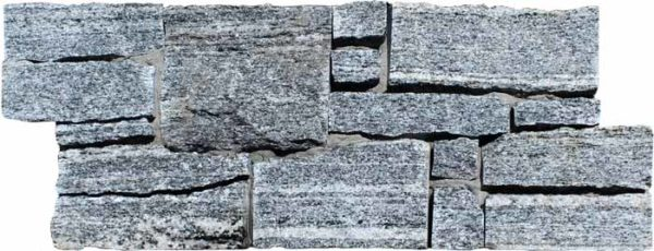 """Serie: Petra Famille: RevÊtement de pierre naturelle et de brique Format: 20 x 55 cm (8""""x22"""" ) Couleur: Gris"""