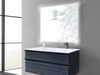 Disponible en simple vasque L800 - L1000 - L1200 mm et en double vasque L1400 mm - Module L1000 mm